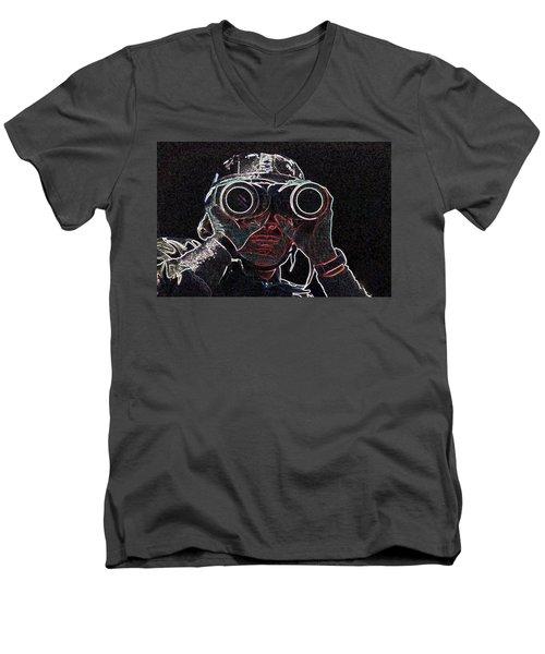 Gulf War Men's V-Neck T-Shirt by Charles Shoup