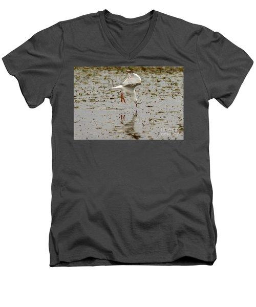 Gull Fishing 01 Men's V-Neck T-Shirt