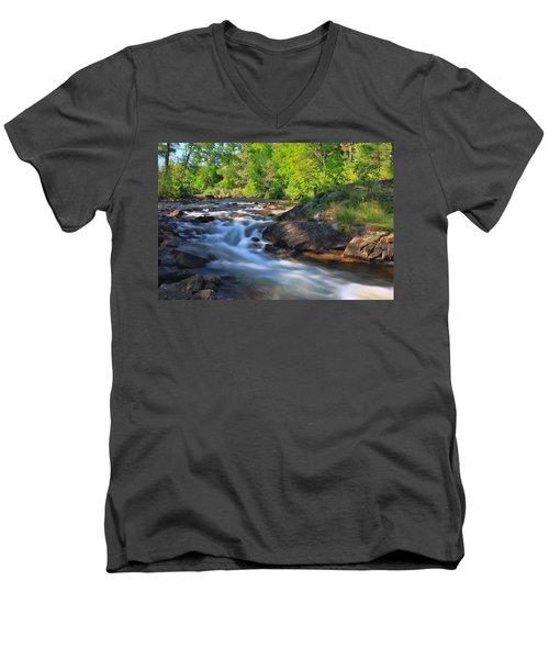 Gull River Falls - Gunflint Trail Minnesota Men's V-Neck T-Shirt