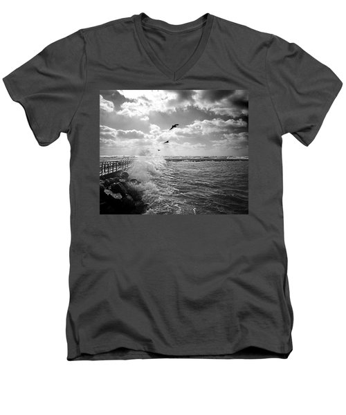 Gulls In A Gale Men's V-Neck T-Shirt