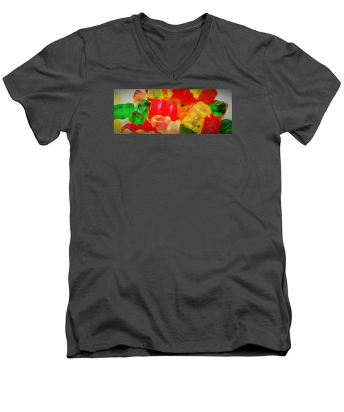Gummies Men's V-Neck T-Shirt by Martin Cline