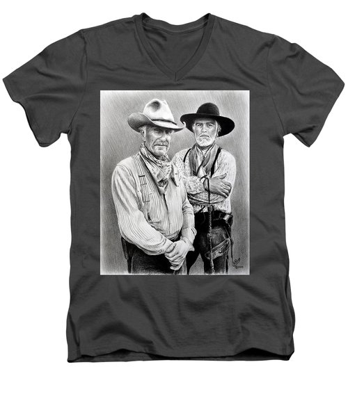 Gus And Woodrow Men's V-Neck T-Shirt