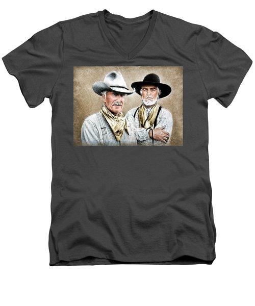Gus And Woodrow Colour Ver Men's V-Neck T-Shirt