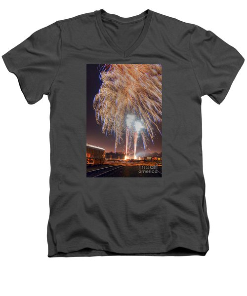 Guy Fawkes Night Fireworks Men's V-Neck T-Shirt