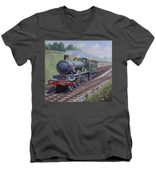 Gwr Star Class Men's V-Neck T-Shirt by Mike  Jeffries