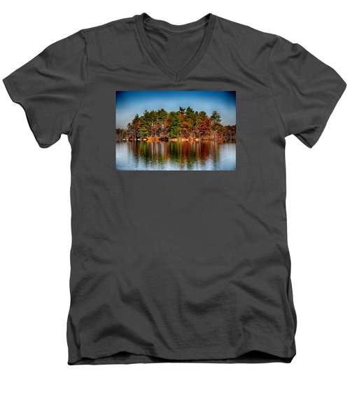 Haggetts Reflections Men's V-Neck T-Shirt by Tricia Marchlik