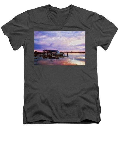 Hagley's Landing Men's V-Neck T-Shirt