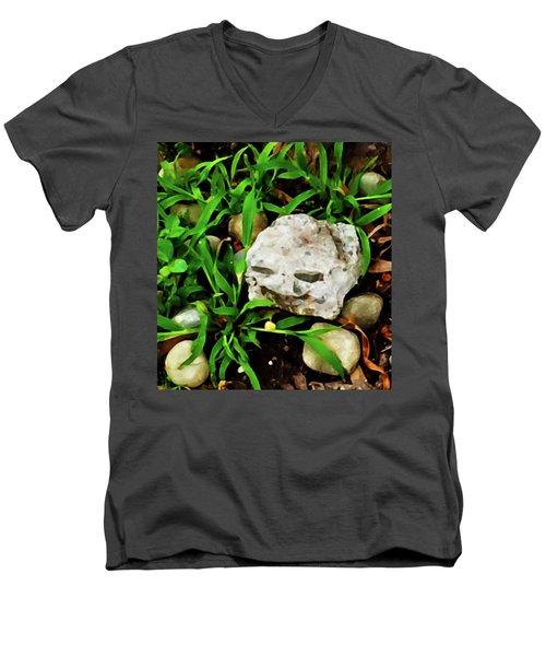 Haight Ashbury Smiling Rock Men's V-Neck T-Shirt