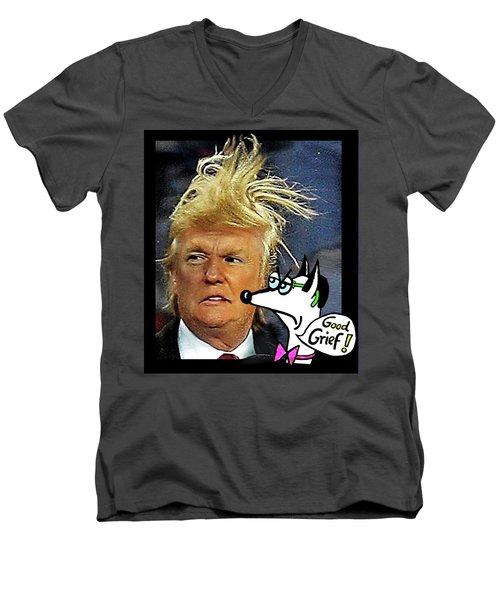 Hail  Emperor Trump...   Men's V-Neck T-Shirt