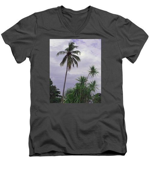 Men's V-Neck T-Shirt featuring the photograph Haiti Where Are All The Trees by B Wayne Mullins
