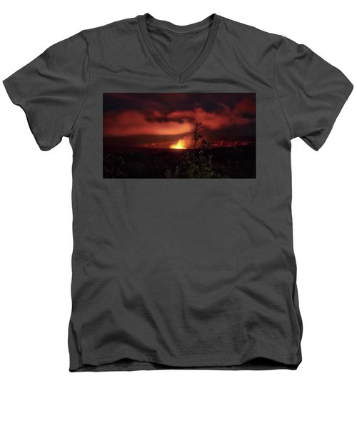 Halemaumau Crater Men's V-Neck T-Shirt