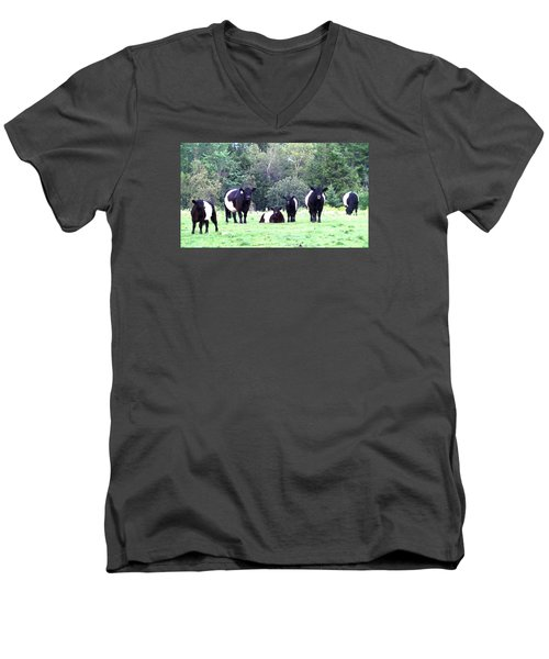 Men's V-Neck T-Shirt featuring the photograph Half A Dozen Oreos by Mike Breau