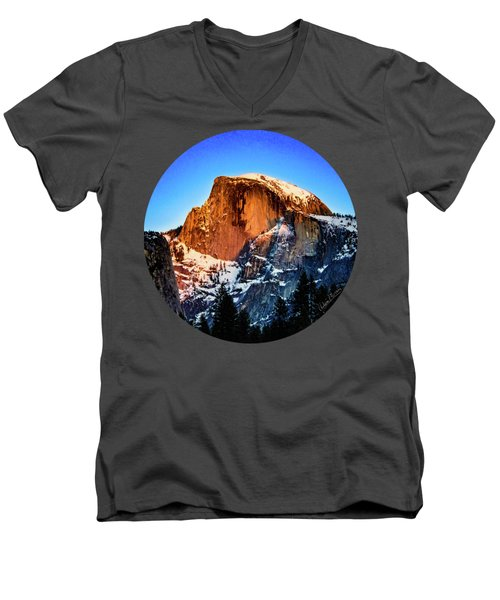 Half Dome Aglow Men's V-Neck T-Shirt