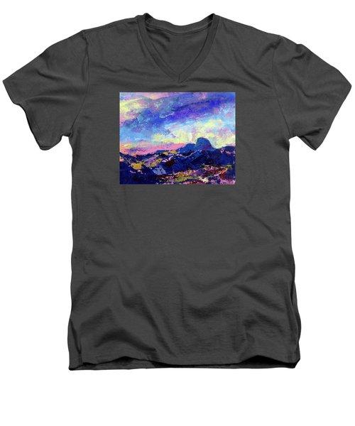 Half Dome Summer Sunrise Men's V-Neck T-Shirt by Walter Fahmy