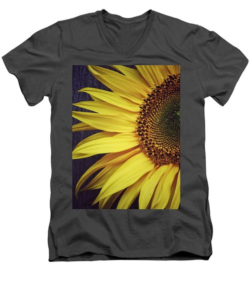 Men's V-Neck T-Shirt featuring the photograph Half Yellow by Karen Stahlros