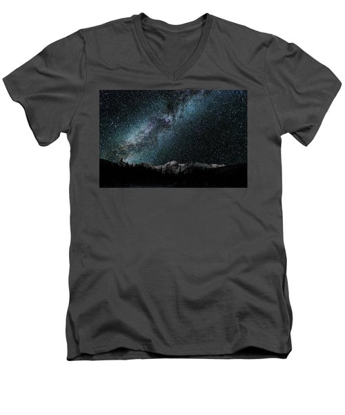 Hallet Peak - Milky Way Men's V-Neck T-Shirt