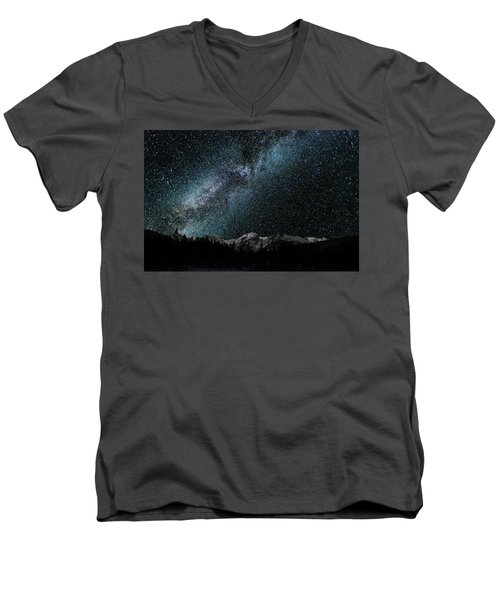Hallet Peak - Milky Way Men's V-Neck T-Shirt