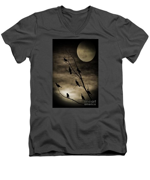 Guardians Of The Lake Men's V-Neck T-Shirt by Elizabeth Winter