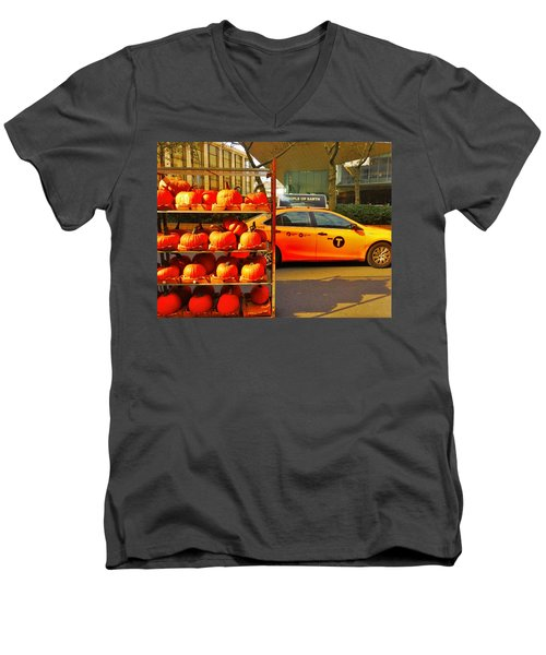 Halloween In New York  Men's V-Neck T-Shirt