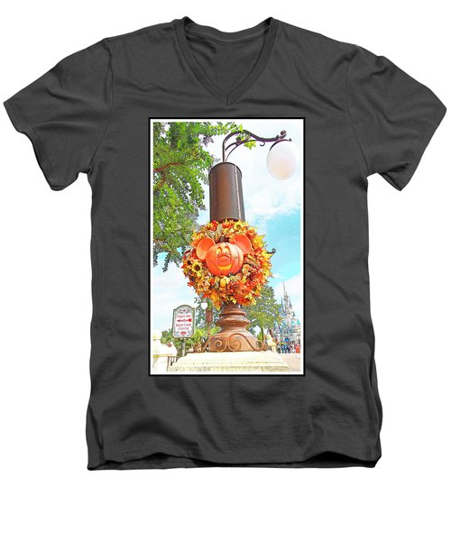 Halloween In Walt Disney World Men's V-Neck T-Shirt