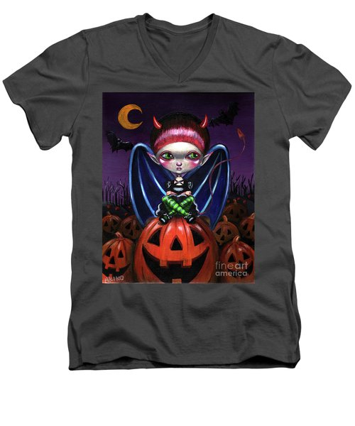 Halloween Little Devil Men's V-Neck T-Shirt