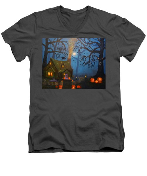 Halloween Night Men's V-Neck T-Shirt