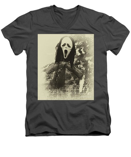 Halloween No 1 - The Scream  Men's V-Neck T-Shirt
