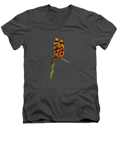 Halloween Pennant Dragonfly .png Men's V-Neck T-Shirt by Al Powell Photography USA