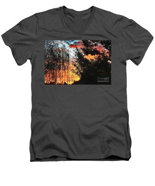 Halloween Sunrise 2015 Men's V-Neck T-Shirt