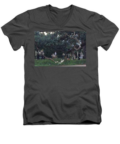 Halloween Yard Party Men's V-Neck T-Shirt