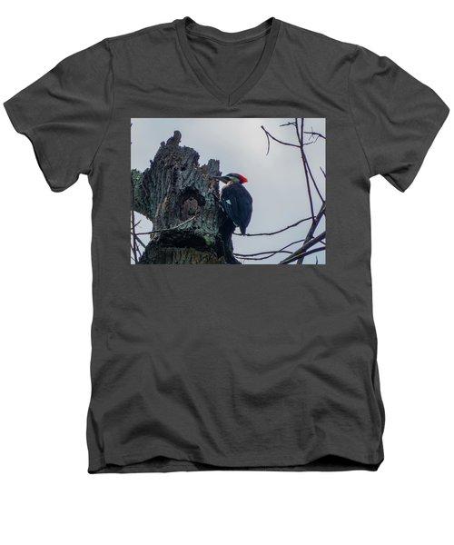 Hammering It Home Men's V-Neck T-Shirt by Kimo Fernandez