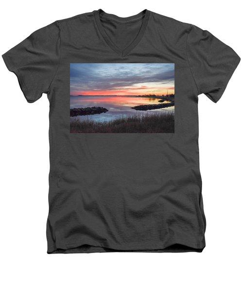 Hampton Sunrise Men's V-Neck T-Shirt
