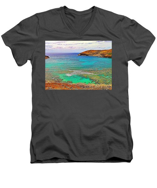 Hanauma Bay Men's V-Neck T-Shirt