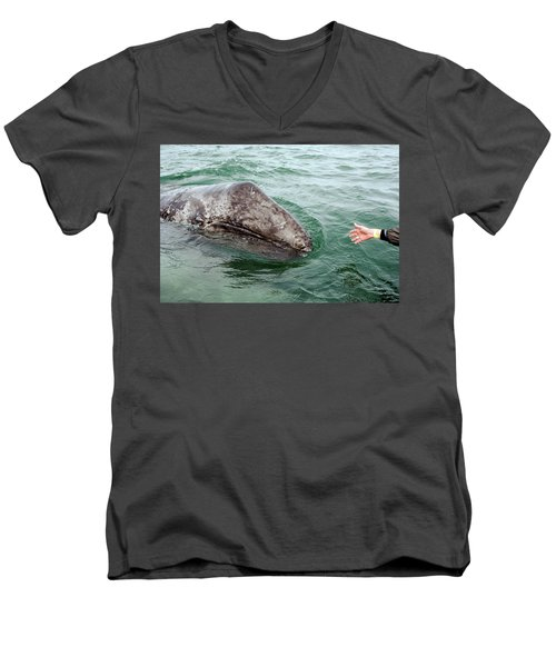 Hand Across The Waters Men's V-Neck T-Shirt