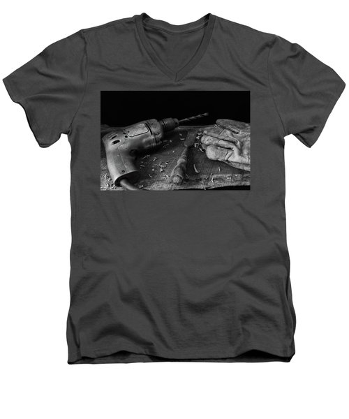 Men's V-Neck T-Shirt featuring the photograph Hand Tools 3 by Richard Rizzo