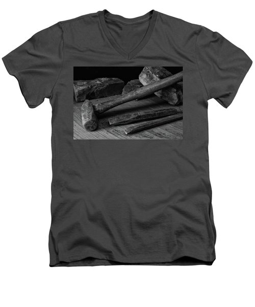 Men's V-Neck T-Shirt featuring the photograph Hand Tools 4 by Richard Rizzo
