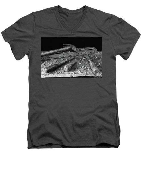 Men's V-Neck T-Shirt featuring the photograph Hand Tools 2 by Richard Rizzo
