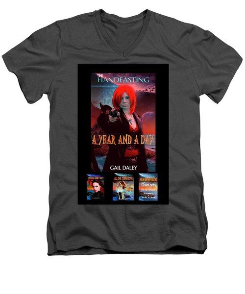 Handfasting Poster Men's V-Neck T-Shirt