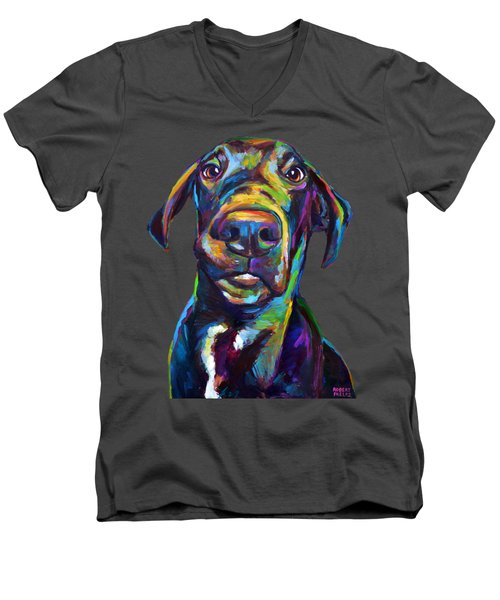 Handsome Hank The Great Dane Men's V-Neck T-Shirt