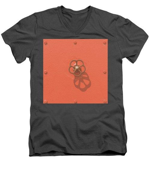 Handwheel - Orange Men's V-Neck T-Shirt
