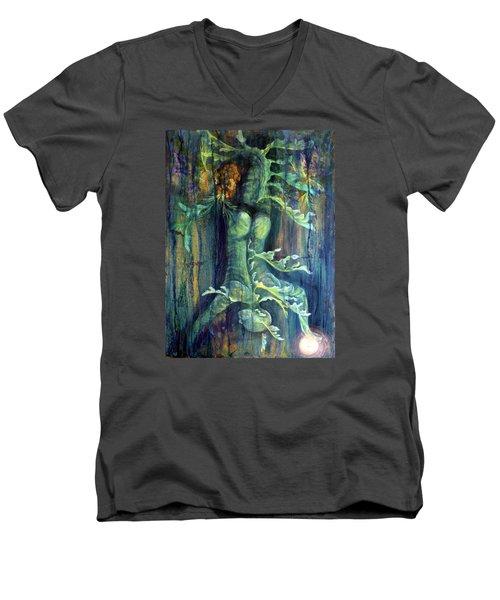 Hanged Man Men's V-Neck T-Shirt by Ashley Kujan