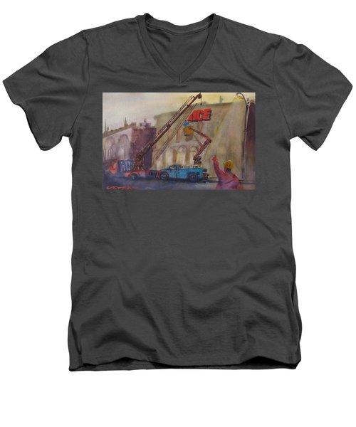 Hanging Ace #1 Men's V-Neck T-Shirt