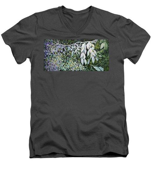 Silver Spendor Men's V-Neck T-Shirt by Joanne Smoley
