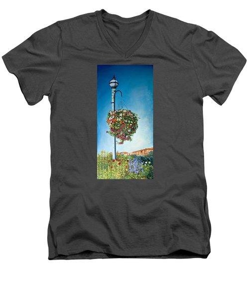 Hanging Basket Men's V-Neck T-Shirt