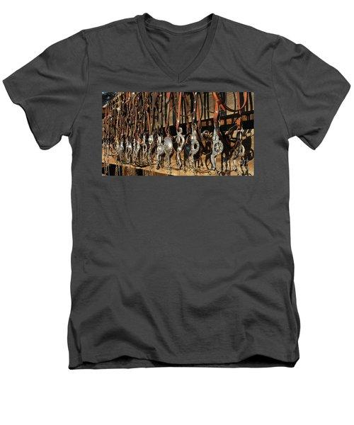 Hanging Bits Men's V-Neck T-Shirt