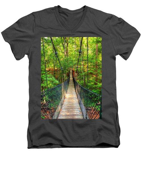 Hanging Bridge Men's V-Neck T-Shirt by Ester  Rogers