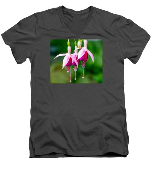 Hanging Flowers  Men's V-Neck T-Shirt by Derek Dean