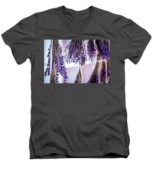 Hanging Lavender Men's V-Neck T-Shirt