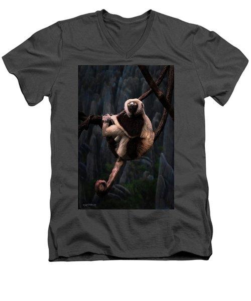 Hanging On Men's V-Neck T-Shirt
