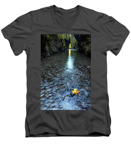 Men's V-Neck T-Shirt featuring the photograph Hanging On by Pierre Leclerc Photography